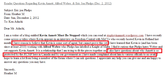 Reader Questions Regarding Kevin Annett  Alfred Webre    Eric Jon Phelps  Dec. 2  2012