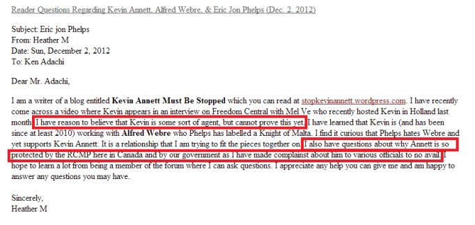 Reader Questions Regarding Kevin Annett  Alfred Webre    Eric Jon Phelps  Dec. 2  2012