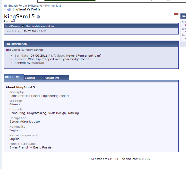 English Forum Switzerland   View Profile  KingSam15 2