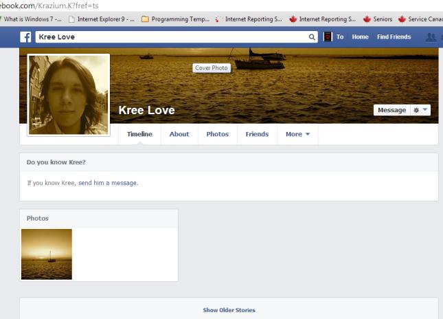 Antonio F. Lopez impersonating Kree Love changes profile image
