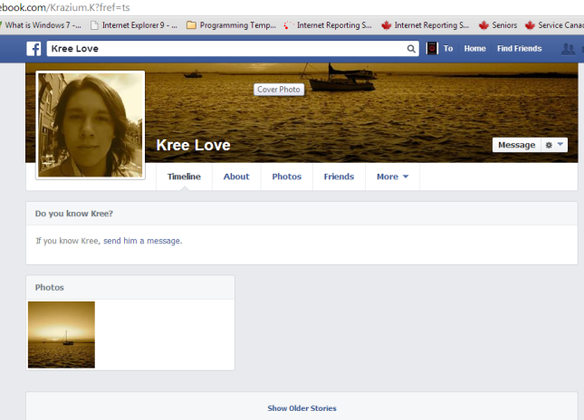 Antonio F. Lopez impersonating Kree Love changes profile image